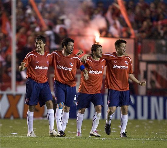 Independiente celebra su paso a la semifinales. Foto: EFE