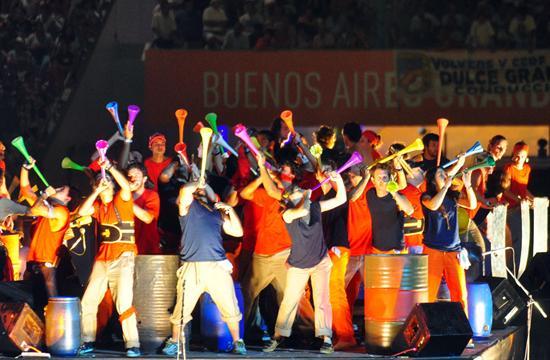 Vista de la ceremonia de inauguración de las obras de remodelación del estadio Ciudad de La Plata/EFE