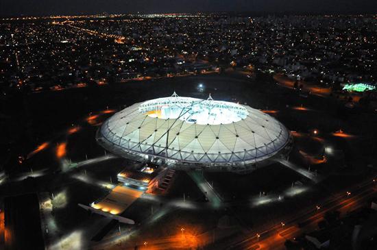 Vista aérea del estadio Ciudad de La Plata, uno de los principales escenarios de la Copa América/EFE
