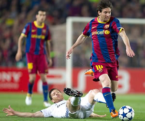 Tres madridistas debieron ser expulsados por la cacería sobre Messi