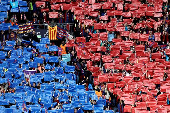Aficionados del FC Barcelona en el Wembley de Londres/EFE