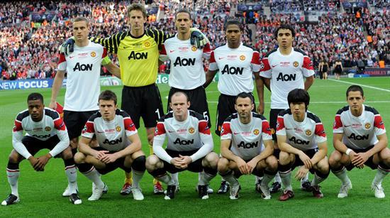 Equipo del Manchester United formado/EFE