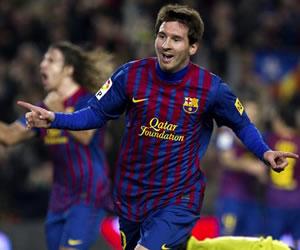 Messi puso doblete en la goleada del Barsa ante Osasuna