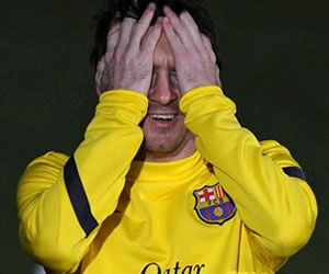 Messi será baja en el Barça a causa de la gripe