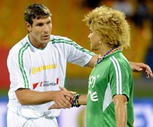 Palermo y Zamorano fueron las atracciones en un amistoso en Colombia