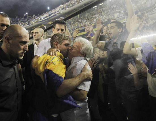 Emotiva despedida a Martín Palermo