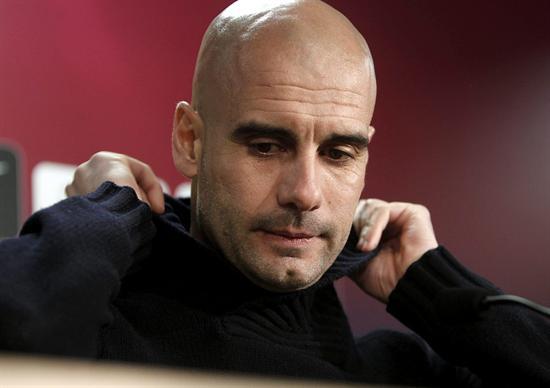 El entrenador del FC. Barcelona, Josep Guardiola, durante la rueda de prensa. Foto: EFE