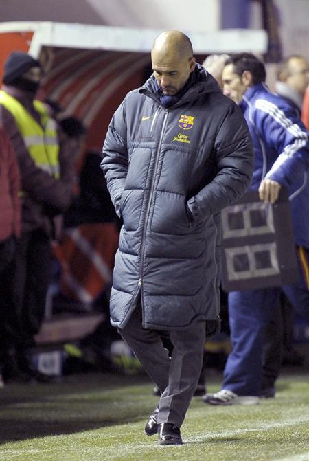 El entrenador del FC Barcelona, Josep Guardiola. Foto: EFE