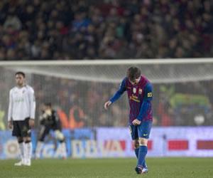 Messi celebra su Poker en el Camp Nou. EFE