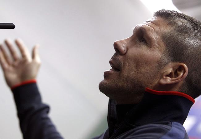 El argentino Diego Simeone, DT del Atlético de Madrid. Foto: EFE