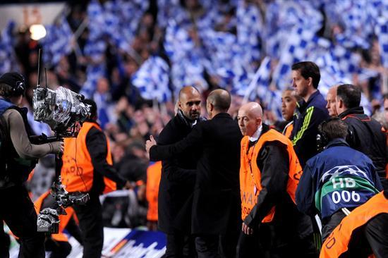 Los entrenadores del Chelsea, Roberto Di Matteo (d), y del Barcelona, Josep Guardiola (i). Foto: EFE