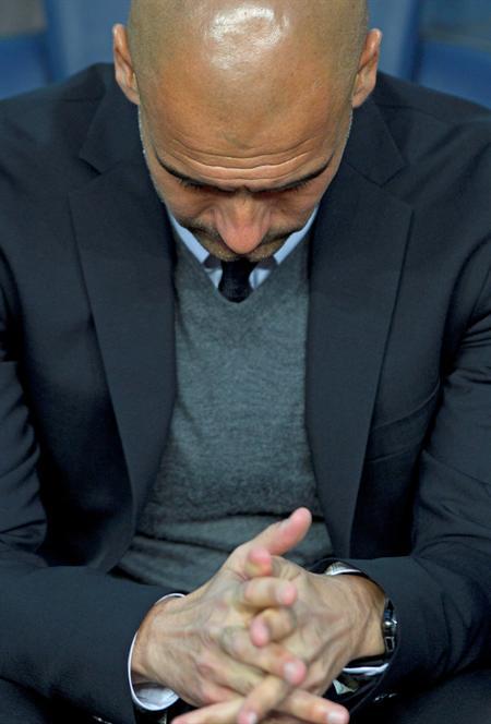 El entrenador del FC Barcelona, Pep Guardiola, durante el partido correspondiente a la vuelta de las semifinales de la Liga de Campeones. Foto: EFE