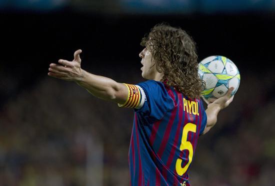 El defensa del Barcelona Carles Puyol gesticula. Foto: EFE