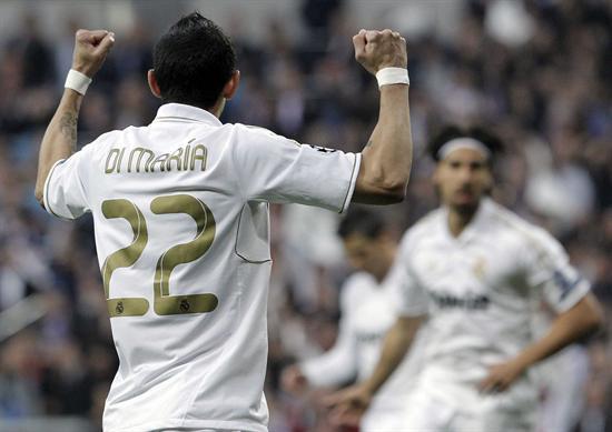 El centrocampista argentino del Real Madrid, Angel di María, gesticula en su partido ante el Bayern de Munich. Foto: EFE