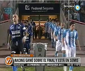 Racing ganó sobre el final y está en semis de la Copa Argentina