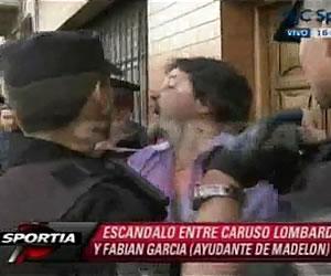 Caruso Lombardi a la comisaría tras pelea con Fabián García