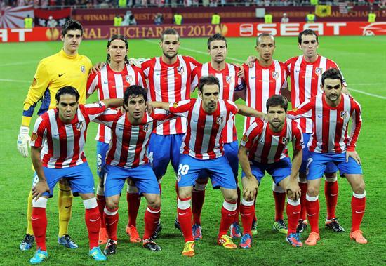 Atlético de Madrid, previo a la final de la Liga Europa. Foto: EFE