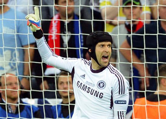 El portero del Chelsea Petr Cech durante la final de la Liga de Campeones contra el Bayern de Múnich. Foto: EFE