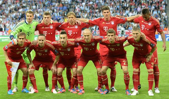 Los jugadores del Bayern de Múnich. Foto: EFE
