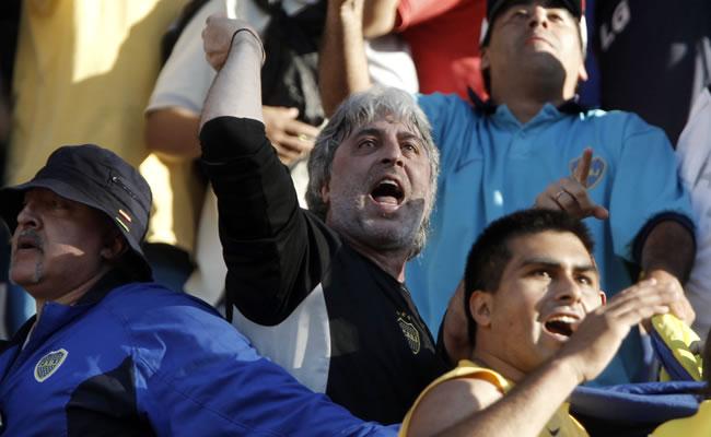 Barras bravas de Boca Juniors. Foto: EFE