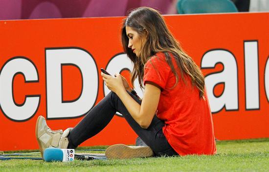 Sara Carbonero, periodista de TV y novia del portero de la selección española, Iker Casillas. Foto: EFE