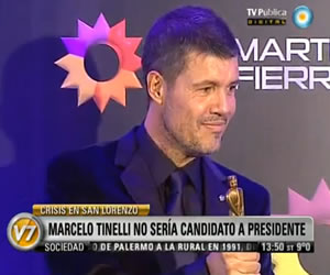 Tinelli no será candidato a presidente de San Lorenzo