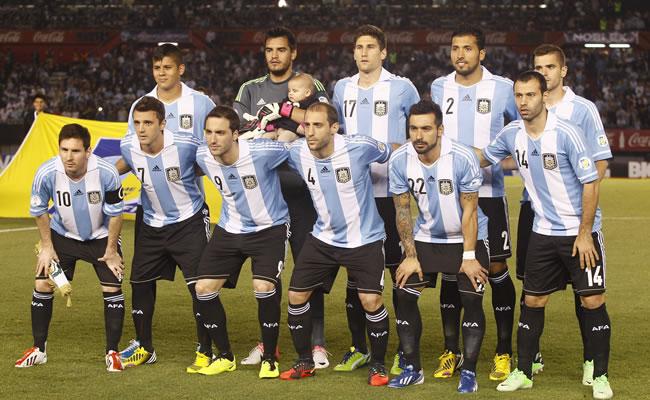 ugadores de la selección nacional de Argentina. Foto: EFE