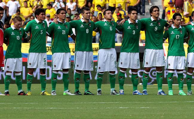 Los jugadores de Bolivia. Foto: EFE