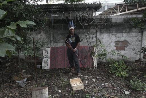 Continúan las protestas por desalojo de indios en Río de Janeiro. Foto: EFE
