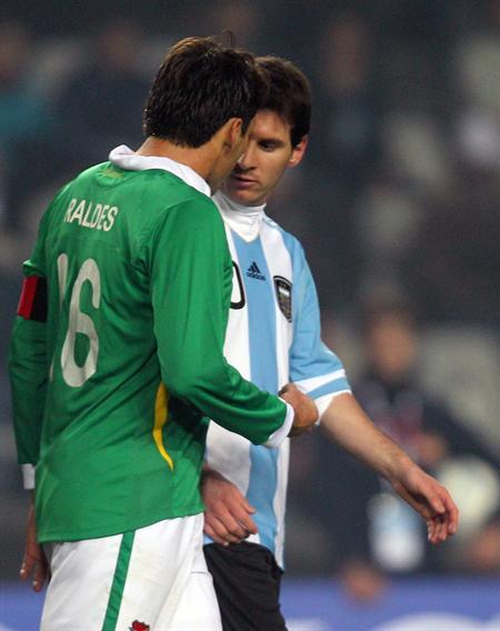 Messi será homenajeado por Evo Morales en La Paz. Foto: EFE