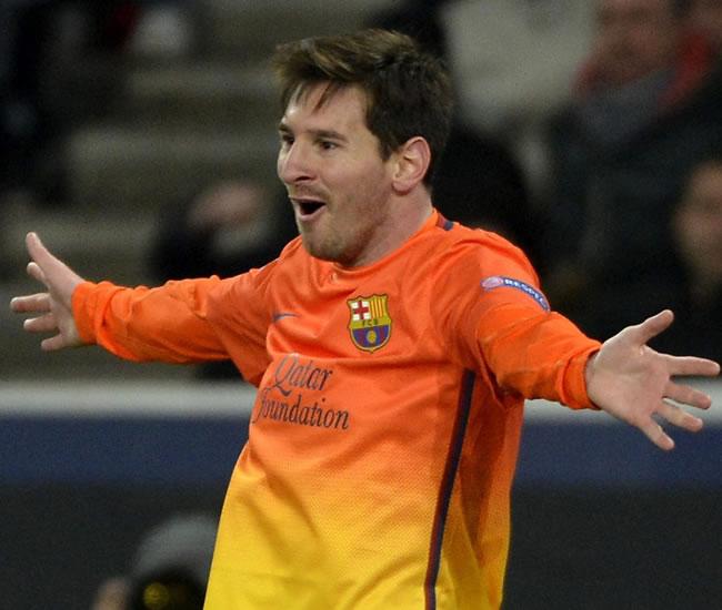 El delantero argentino del FC Barcelona, Lionel Messi, celebra el gol conseguido ante el París Saint-Germain. Foto: EFE