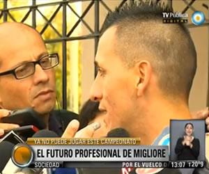 Migliore asegura que su prioridad es San Lorenzo y respetará el contrato