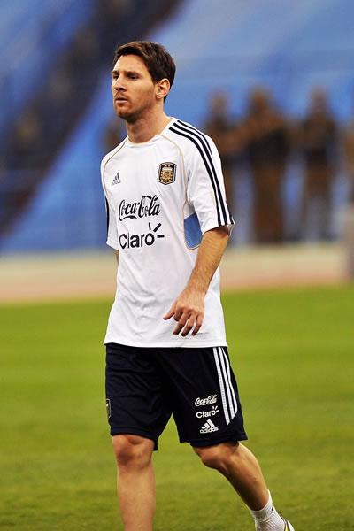 Lionel Messi con la selección de Argentina. Foto: EFE