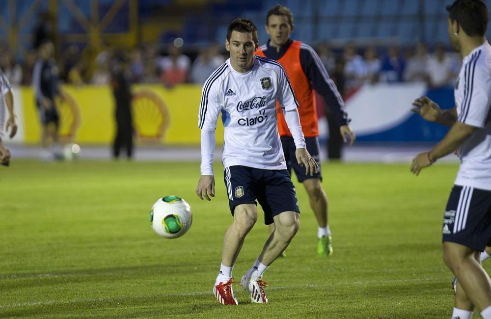 El jugador de la selección argentina de fútbol Lionel Messi. EFE