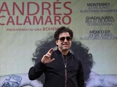 El cantautor argentino Andrés Calamaro se encuentra de visita en México como parte de su gira 'Bohemio'. Foto: EFE