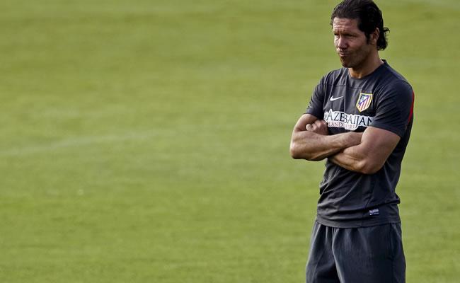 El entrenador del Atlético de Madrid, el argentino Diego Simeone. Foto: EFE
