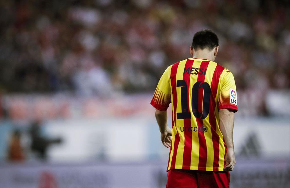 El delantero argentino del FC Barcelona Leo Messi, durante el partido de ida de la Supercopa ante el Atlético de Madrid. Foto: EFE