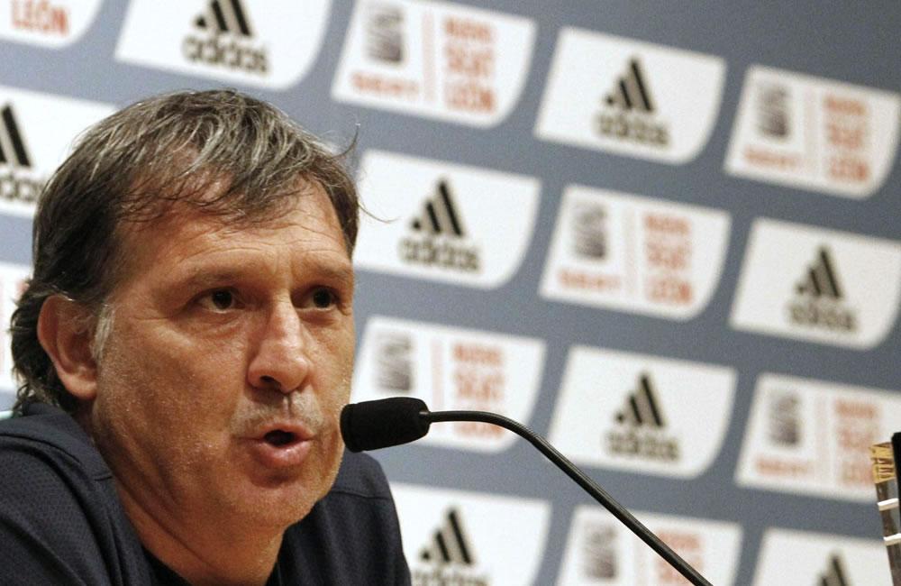 El DT del FC Barcelona, el argentino Gerardo 'Tata' Martino, durante la rueda de prensa. Foto: EFE