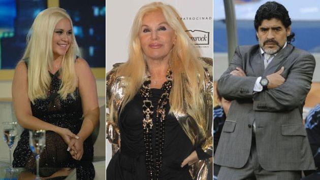 Susana Giménez y Diego Maradona. EFE/Archivo