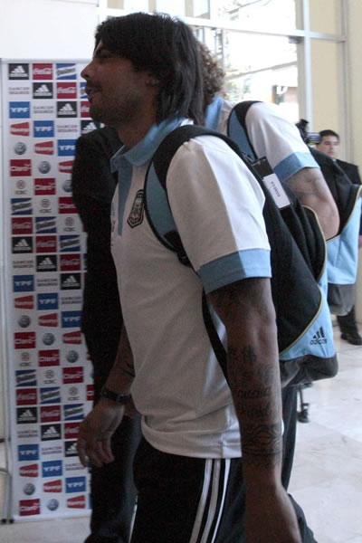 Éver Banega del Valencia CF con la selección argentina. Foto: EFE