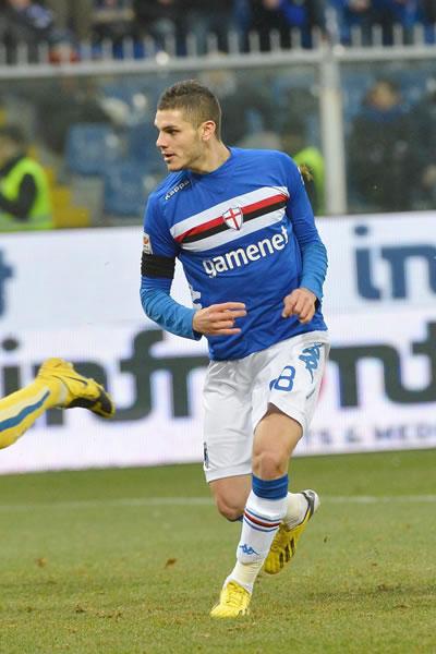 El argentino Mauro Icardi cuando militaba con la Sampdoria. Foto: EFE