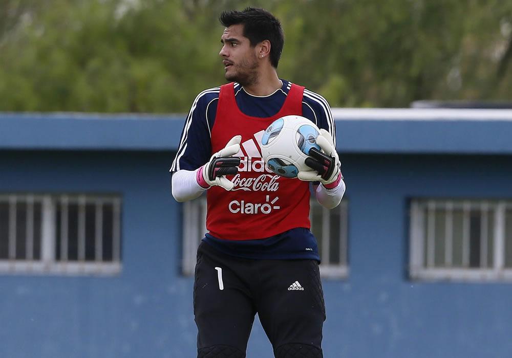 Sergio Romero con la Albiceleste. Foto: EFE