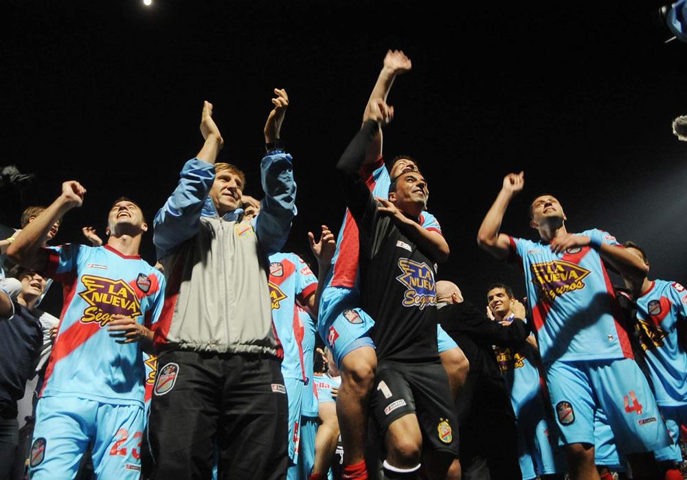 Los jugadores de Arsenal de Sarandí festejan la consecución de la Copa Argentina. Foto: EFE