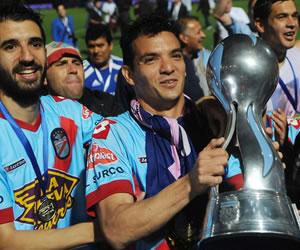 Los jugadores de Arsenal de Sarandí festejan la consecución de la Copa Argentina. EFE