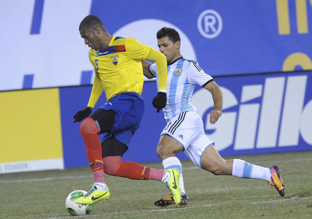 La Albiceleste empató sin goles con Ecuador en Nueva Jersey. EFE