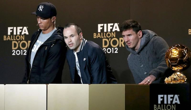 """Iniesta cree que si Messi gana el Balón de Oro, """"sería el triunfo de todos"""". Foto: EFE"""