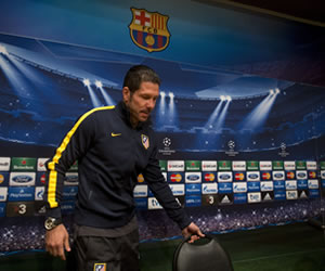 "Simeone: ""Mañana vamos a tener enfrente al mejor Barcelona"""
