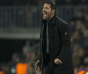 "Simeone: ""Estoy contento porque podemos competir contra ellos"""