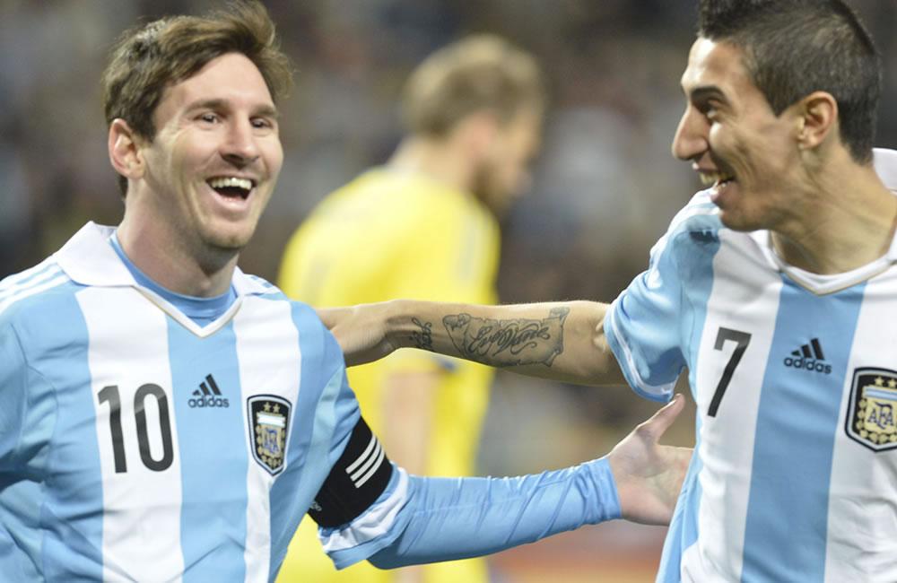 """Di María: """"Messi está bien, tranquilo y no veo desgastado al Barcelona"""". Foto: EFE"""