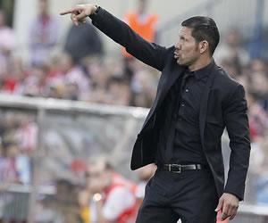 """Simeone: """"No quiero pensar en el título de Liga"""""""